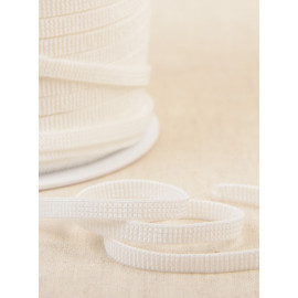 Bobine 250 mètres élastique plat blanc 6mm Made In France sans Latex (latex free) hypoallergénique Oeko Tex