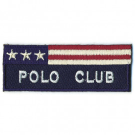 Écusson thermocollant Polo Club bleu