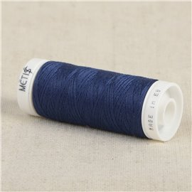 Bobine fil polyester 200m Oeko Tex fabriqué en Europe bleu océan