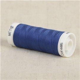 Bobine fil polyester 200m Oeko Tex fabriqué en Europe bleu monarchie