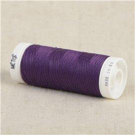 Bobine fil polyester 200m Oeko Tex fabriqué en Europe violet pourpre