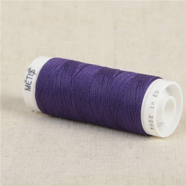 Bobine fil polyester 200m Oeko Tex fabriqué en Europe voilet-noir