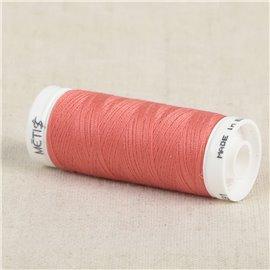 Bobine fil polyester 200m Oeko Tex fabriqué en Europe rose flamant