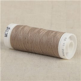 Bobine fil polyester 200m Oeko Tex fabriqué en Europe brun clair