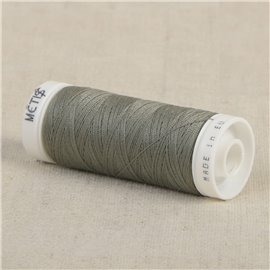 Bobine fil polyester 200m Oeko Tex fabriqué en Europe gris-vert