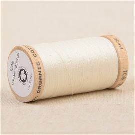 Bobine de fil 100% coton bio 275m blanc cassé
