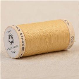 Bobine de fil 100% coton bio 275m jaune pale