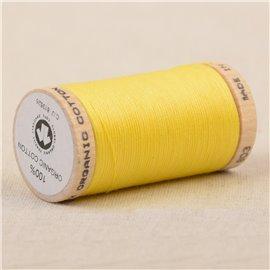 Bobine de fil 100% coton bio 275m jaune canarie