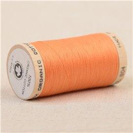 Bobine de fil 100% coton bio 275m orange
