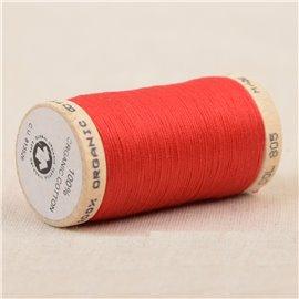 Bobine de fil 100% coton bio 275m rouge