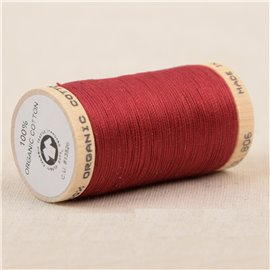 Bobine de fil 100% coton bio 275m beaujolais