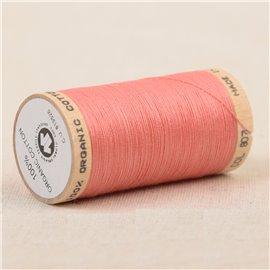 Bobine de fil 100% coton bio 275m corail