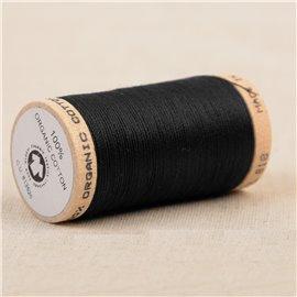 Bobine de fil 100% coton bio 275m noir