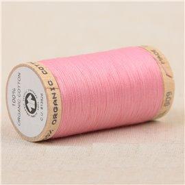 Bobine de fil 100% coton bio 275m rose layette
