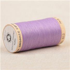 Bobine de fil 100% coton bio 275m lilas