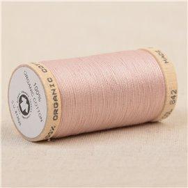 Bobine de fil 100% coton bio 275m rose poudre