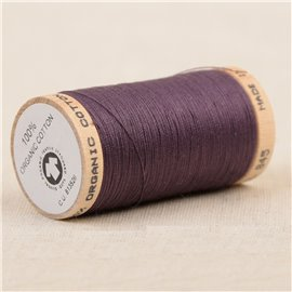 Bobine de fil 100% coton bio 275m violet
