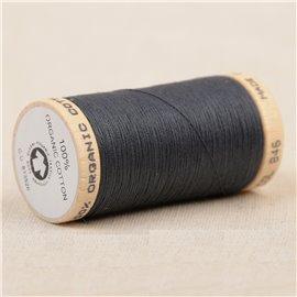 Bobine de fil 100% coton bio 275m gris bleu