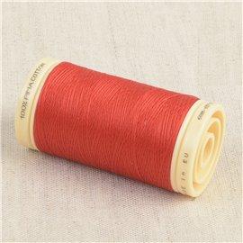 Bobine de fil Coton Pima Oeko Tex 600m rouge flamme