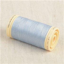 Bobine de fil Coton Pima Oeko Tex 600m bleu ange