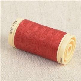 Bobine de fil Coton Pima Oeko Tex 600m rouge chinois