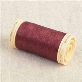 Bobine de fil Coton Pima Oeko Tex 600m rouge rumba
