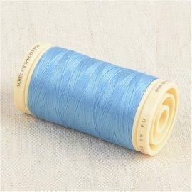 Bobine de fil Coton Pima Oeko Tex 600m bleu aquamarine