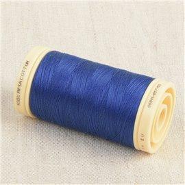 Bobine de fil Coton Pima Oeko Tex 600m bleu mirage