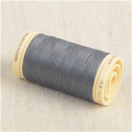 Bobine de fil Coton Pima Oeko Tex 600m gris terre