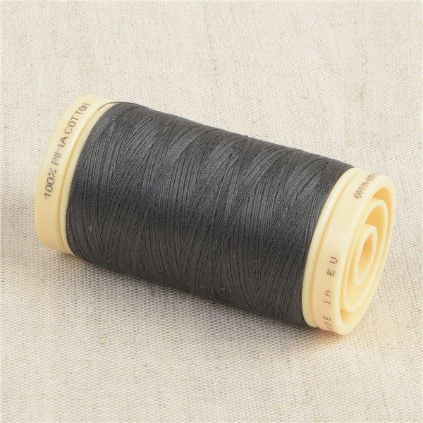 Bobine de fil Coton Pima Oeko Tex 600m gris ombre
