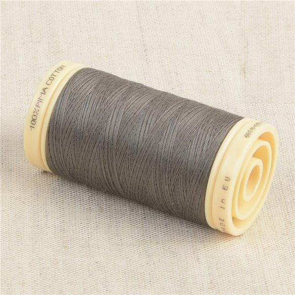 Bobine de fil Coton Pima Oeko Tex 600m gris métal