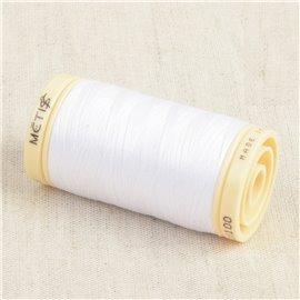 Bobine de fil Coton Pima Oeko Tex 600m blanc