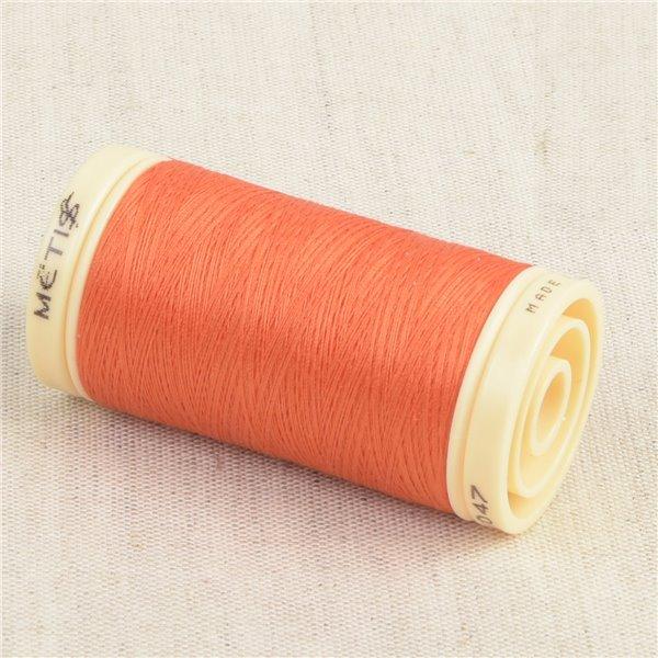 Bobine de fil Coton Pima Oeko Tex 600m orange