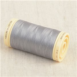 Bobine de fil Coton Pima Oeko Tex 600m gris clair