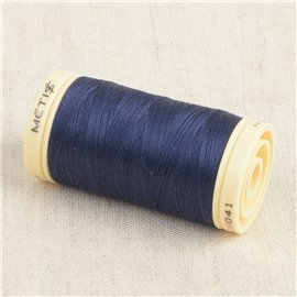 Bobine de fil Coton Pima Oeko Tex 600m bleu aurore