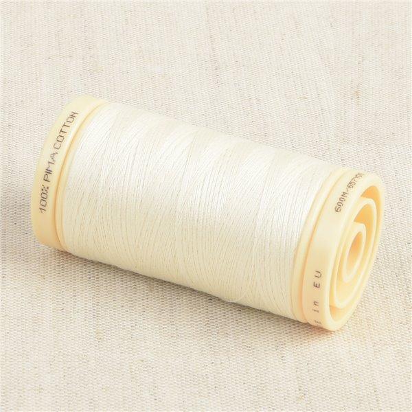 Bobine de fil Coton Pima Oeko Tex 600m écru perle