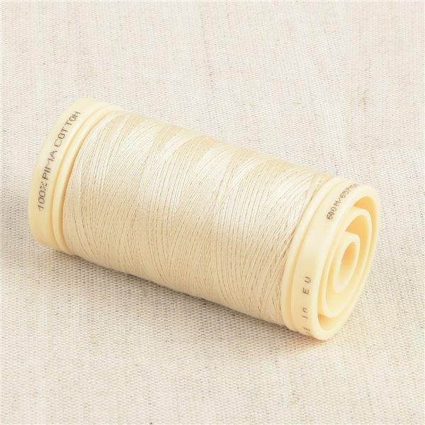 Bobine de fil Coton Pima Oeko Tex 600m range crème