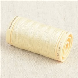 Bobine de fil Coton Pima Oeko Tex 600m blanc albâtre