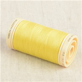 Bobine de fil Coton Pima Oeko Tex 600m jaune vibrant