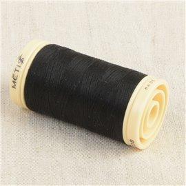 Bobine de fil Coton Pima Oeko Tex 600m noir