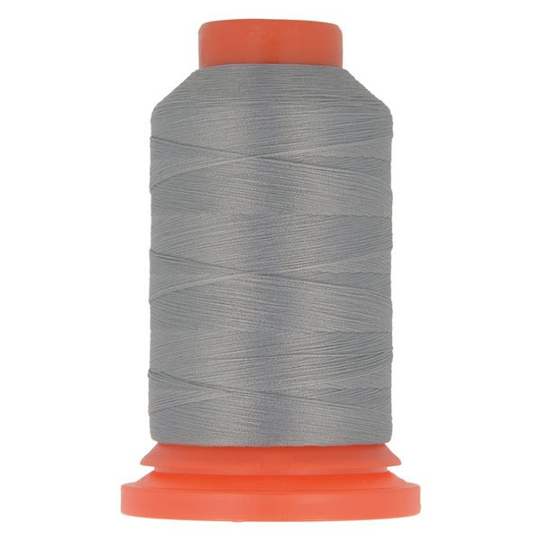 Bobine fil mousse polyester 1000m fabriqué en France pour surjeteuse gris