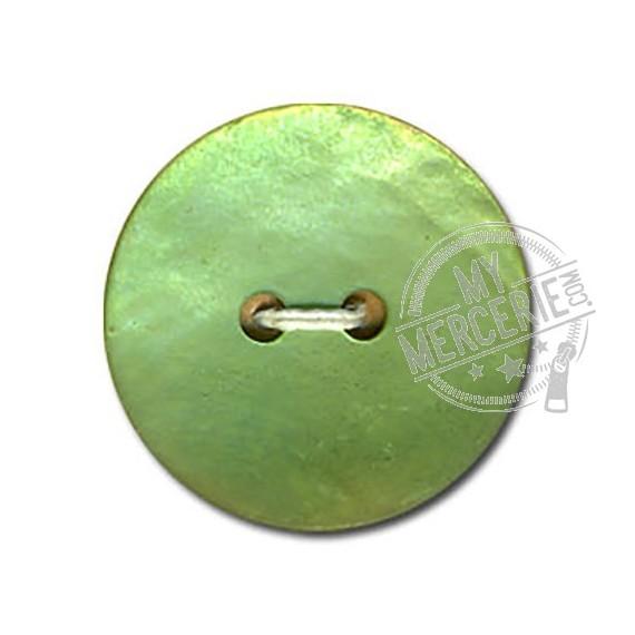 Bouton en Nacre Mate couleur Vert anis