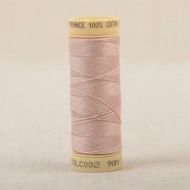 Bobine fil coton 90m fabriqué en France - Rose saumon C2