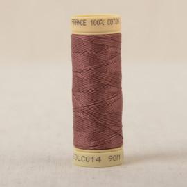 Bobine fil coton 90m fabriqué en France - Marron candi C14