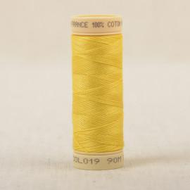 Bobine fil coton 90m fabriqué en France - Jaune C19