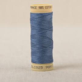 Bobine fil coton 90m fabriqué en France - Bleu ocean C25