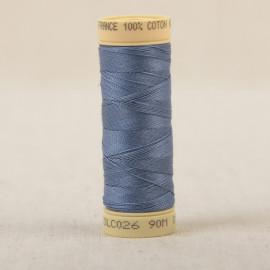 Bobine fil coton 90m fabriqué en France - Bleu canard C26