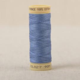 Bobine fil coton 90m fabriqué en France - Bleu de france C27