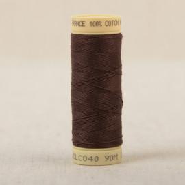 Bobine fil coton 90m fabriqué en France - Havane C40