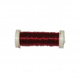 Bobine Fil élastique 15m en nylon - Bordeaux C008